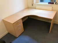 Office Corner Desk and Matching Drawer Unit