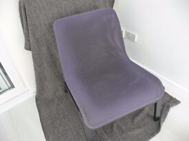 Pair of Ikea double layer mesh chairs unpatterned