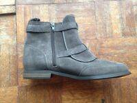 BNWT ladies short boots in grey suede size 5.5 RRP £59