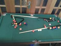 foldable 6ft snooker table
