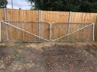 Heavy metal farm/yard gates