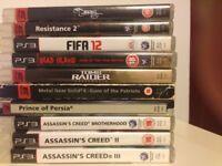 10 (TEN) Assorted PS3 Games