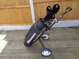 Golf clubs, trolley, bag and balls - excellent set
