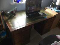 Leather topped desk