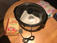 Morphy Richards slow cooker with cookbook
