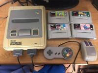 Snes Super Nintendo console & games