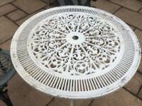 CAST ALUMINIUM GARDEN TABLE - SAVOY STYLE - 80cm IN GREAT CONDITION