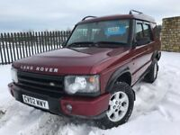 2002 02 LANDROVER DISCOVERY 2.5 *DIESEL* 4x4 - SEPT 2018 M.O.T - IMMACULATE CONDITION THROUGHOUT!!