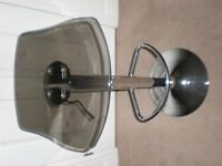 STOOL - excellent condition, variable height with 360 swivel, chrome finish, perspex seat = £10 ono
