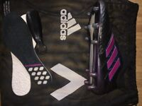 Adidas ACE 17+ Purecontrol FG - Core Black/Shock Pink/Blue