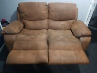 Suede brown 2 seater
