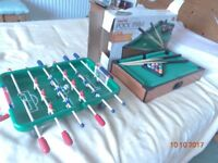 TableTop Pool Table and Bar Football - VGC - Great Fun