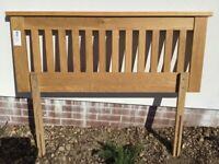 Solid Oak Headboard for Double Bed for sale  St Austell, Cornwall