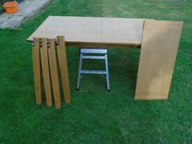 Dining Table Extending, Solid Wood.