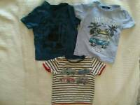 Boy's T-shirts age 2 bundle vg cond, camper van and vintage cars logo, s&pfh