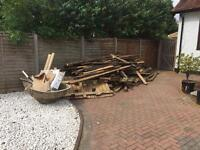 Free fire wood old decking