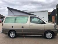 Automatic Nissan elgrand pop top camper,aircon,cruise control,low miles