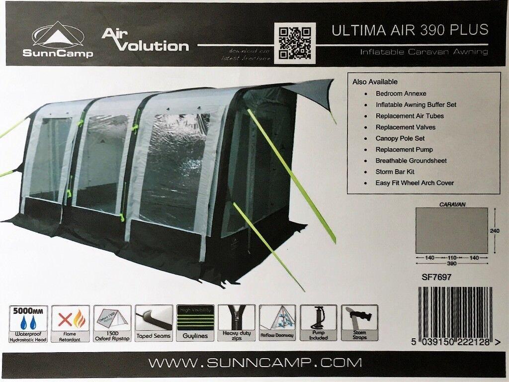 Sunncamp Ultima Air 390 Plus Caravan Awning. As new | in ...