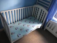 Kids cot/bed draws and wardrobe set