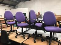 Purple Adjustable Chairs with Arms