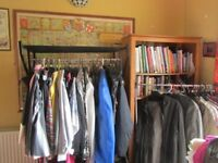 Womens & Mens clothing. Some new, some used. Sizes 16-20 & Mens M,L. Ladies shoe sizes 6 & 7.