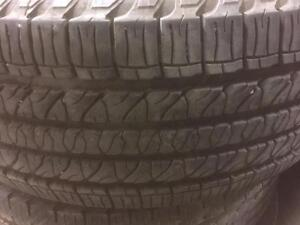 4 pneus d'été Goodyear, Fortera HL, 265/50/20, 35% d'usure, mesure 6-8/32.
