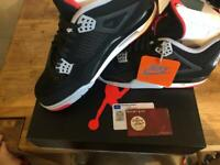 official photos 307c7 60c3d Nike air Jordan 4 bred uk8