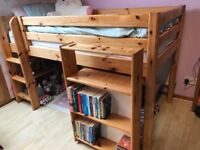 Flexa Mid High Cabin Bed with Roll Out Desk