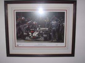 "Framed Formula 1 Print ""Dark Angels"""