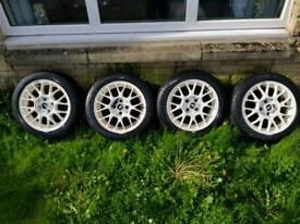 TSW alloy wheels 15inch 4x100 stud