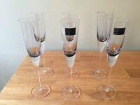 Betty Jackson From Debenhams Champagne Flutes X6 nearly new