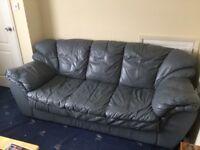 100% Leather 3 seater sofa