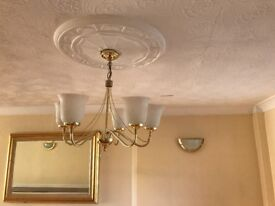 Gold / Brass Ceiling Light Fitting