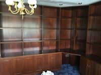Free Home office/study/library fitted furniture cupboards and shelving