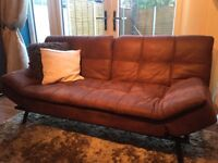 Faux Leather Sofa Bed *can now deliver