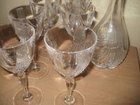 Decanter & six glasses