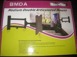 "Rocelco TV Mount. Articulated. For 15-32"" HD / LED / Plasma TV Upto 44lbs. Flexible Multi Angle Position. Full Metal"