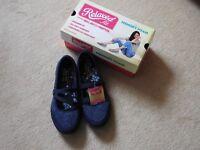 Skechers memory foam flat shoes.