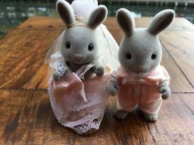 SYLVANIAN FAMILIES VINTAGE - BRIGHT EYES WEDDING COUPLE LATE 1980'S