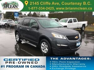 2013 Chevrolet Traverse LS AWD One Owner/Accident Free/Local Car
