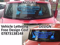 Sign writing Vehicle lettering for Vehicle/ Van/Car/Shop Windows Decals/Stickers - Free design cost