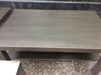 Ikea coffee table and 2 x side tables brown