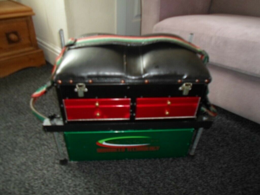 vintage fishing tackle box/seat  made by maver  | in Newcastle-under-Lyme,  Staffordshire | Gumtree