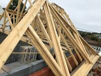 Roof trusses 7150 span at 45 degrees, 13 available