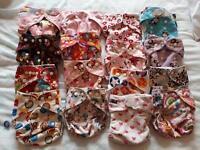 16 reusable cloth nappies
