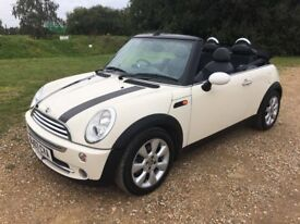 MINI Cooper Convertible, Pepper White, Fabulous value, half leather, NEW MOT, great history