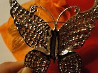 *CHARITY SALE* 2 Butterfly Brooches, one Golden, one Silver colours-- Brand New