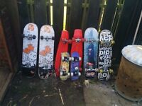8 skateboards for sale, see pictures OFFERS.