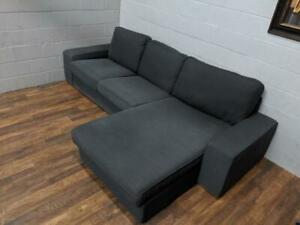 Ikea Kivik sectional sofa in dark grey. Free Delivery