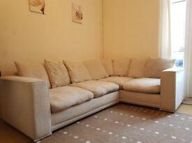 Cream coloured corner sofa excellent condition